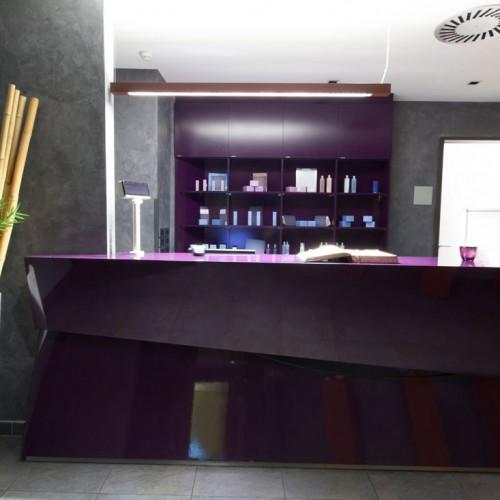 Bespoke Angled Reception Desk Hotel Spa
