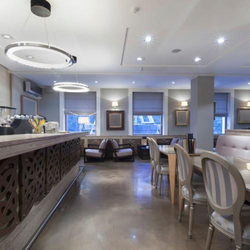 Bright Hotel Restaurant Interior