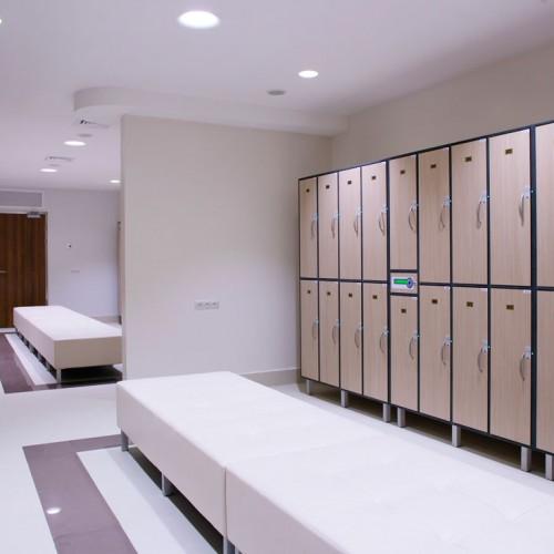 Freestanding Lockers Hotel Changing Room