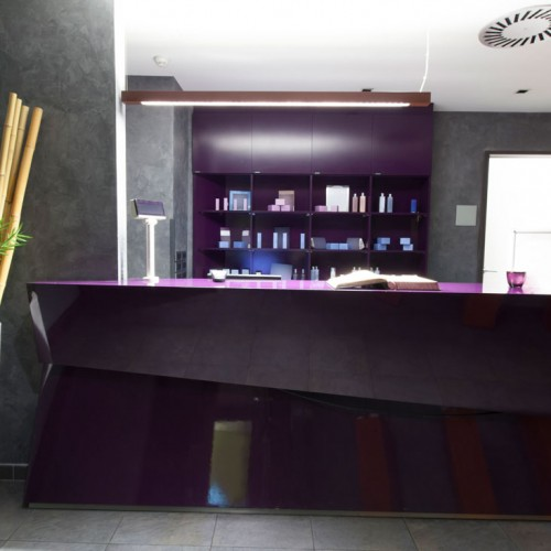 Bespoke Angled Reception Desk Hotel Spa
