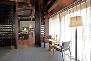 Bespoke Wine Wall Hotel Lounge
