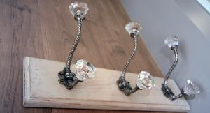 Vintage hotel bedroom robe hooks