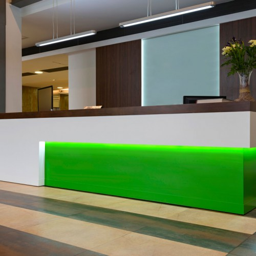 hotel Receptiion Desk neon Lighting